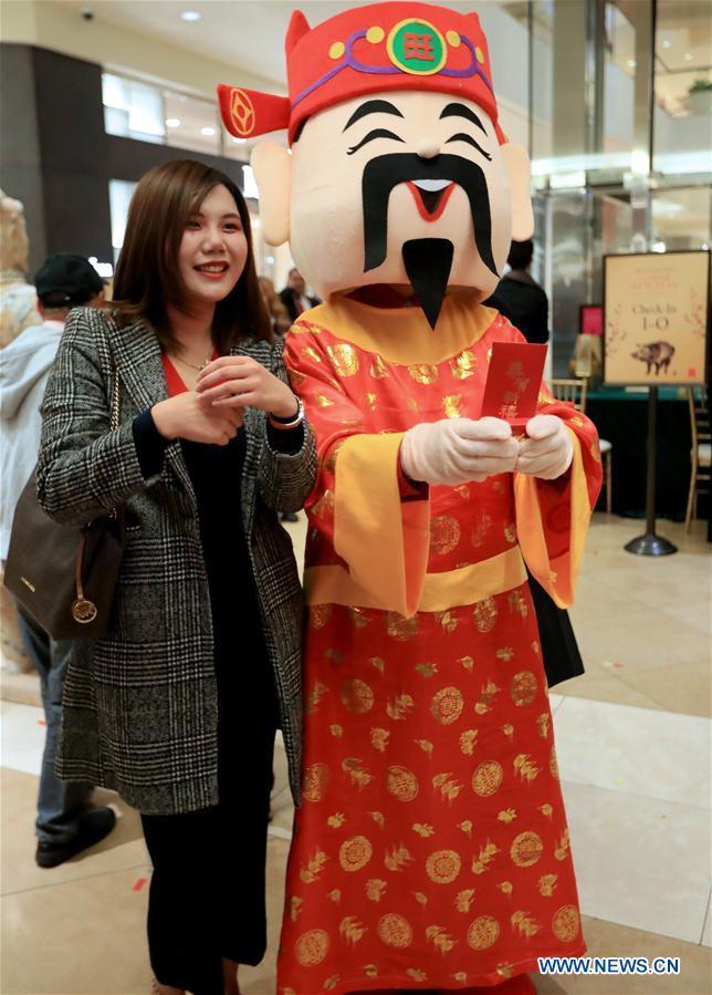 South Coast Plaza in California, US holds activities to celebrate Chinese New Year