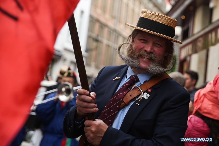 Moustache lovers attend celebration in Brussels, Belgium