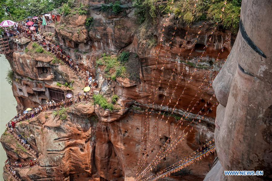 Giant Buddha of Leshan reopens to tourists