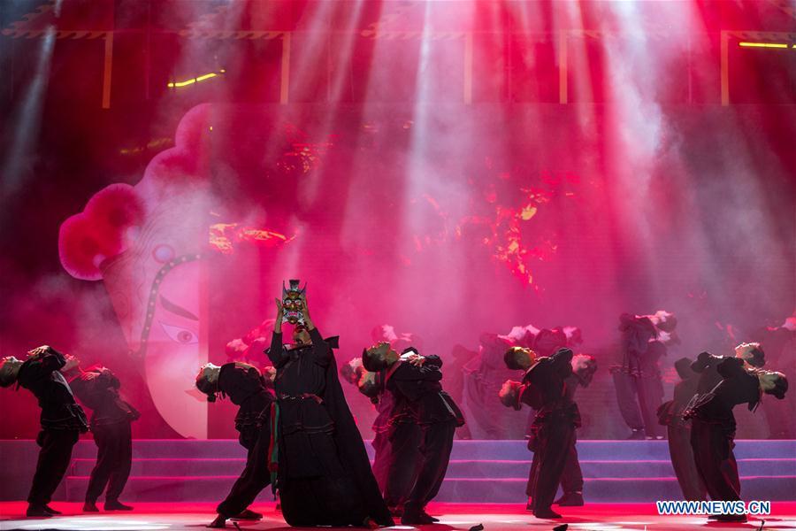 5th Chengjiang Nuo Opera cultural festival held in China's Yunnan