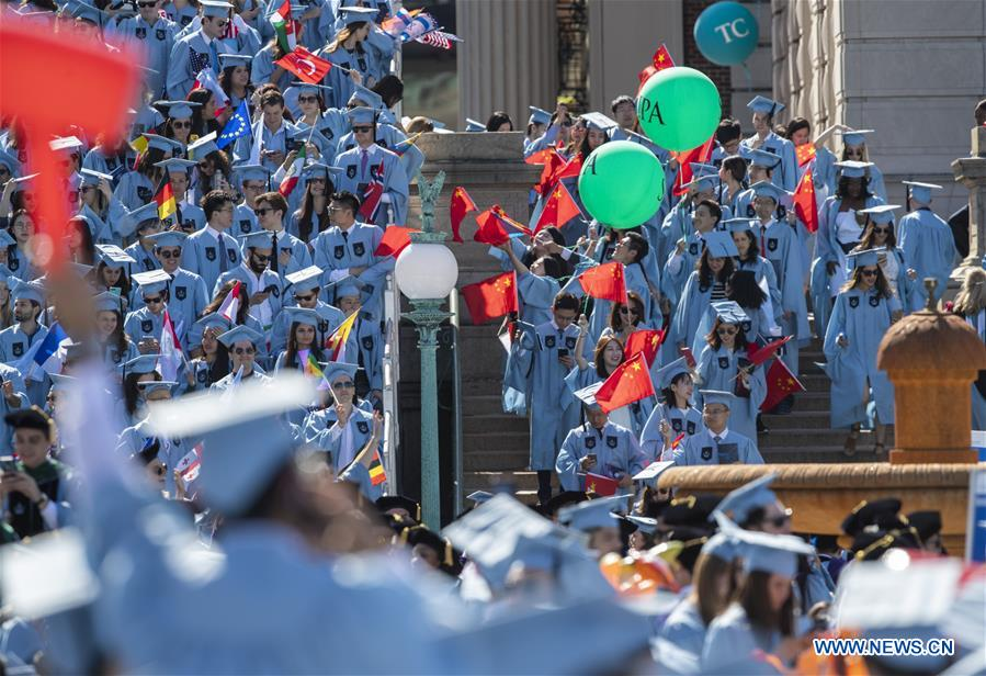 Graduate students attend Columbia University Commencement ceremony in New York, U.S.
