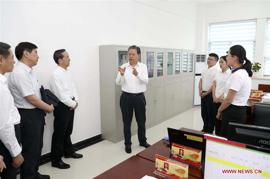 Zhao Leji makes investigation and research tour in Hubei