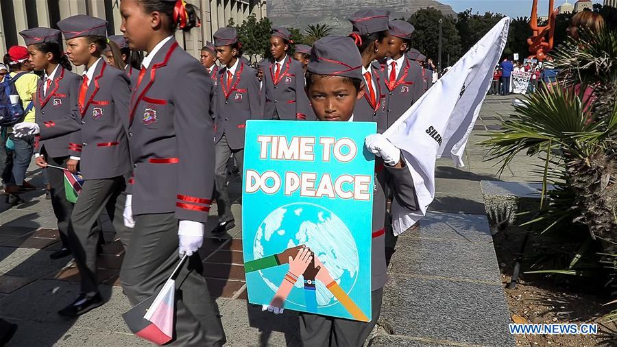Thousands of South Africans take part in peace walk in Cape Town