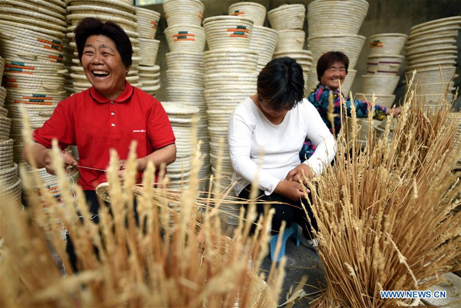 Straw products bring extra income for farmers in Tancheng County, China's Shandong