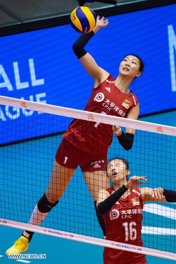 China beats Thailand 3-0 FIVB Women's Volleyball Nations League Macao 2019
