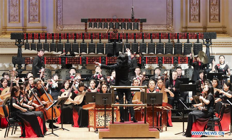 """Concert """"The Grand Set of Chime-bells and Chinese Orchestra Music"""" held in New York"""