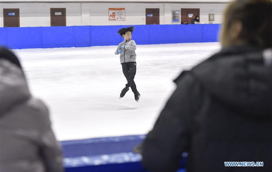 Pic story: Zhou Yi, eight-year-old figure skater in Jilin Province