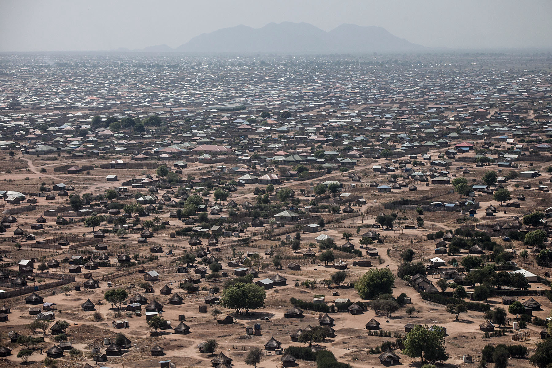 This aerial view taken on January 10, 2014 shows central Juba, South Sudan AFP.jpg