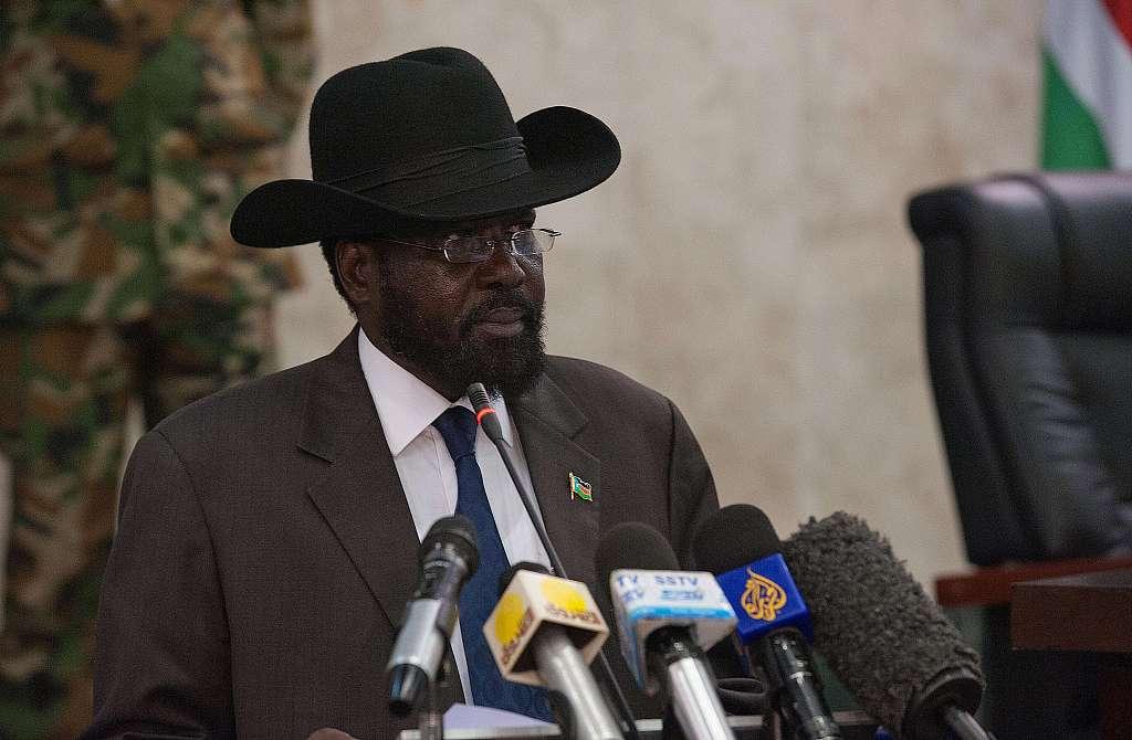 Photo taken on June 11, 2012 shows South Sudan's President Salva Kiir VCG.jpg