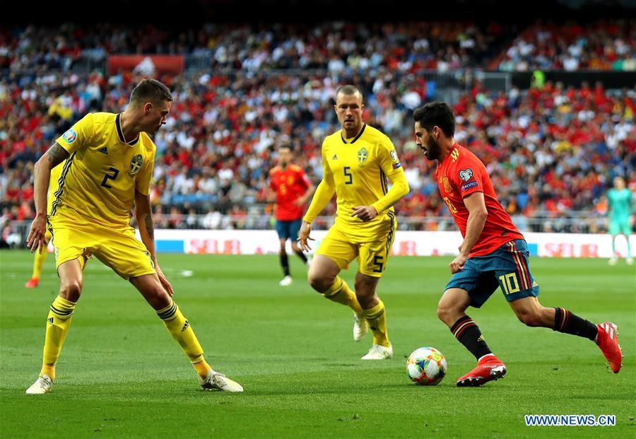 Spain beat Sweden in Euro 2020 qualifier