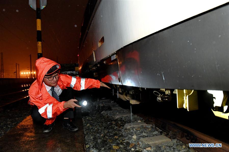 Bullet trains carefully checked due to continuous rain in S China