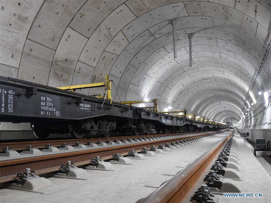 Track of whole length of Beijing-Zhangjiakou High-Speed Railway built