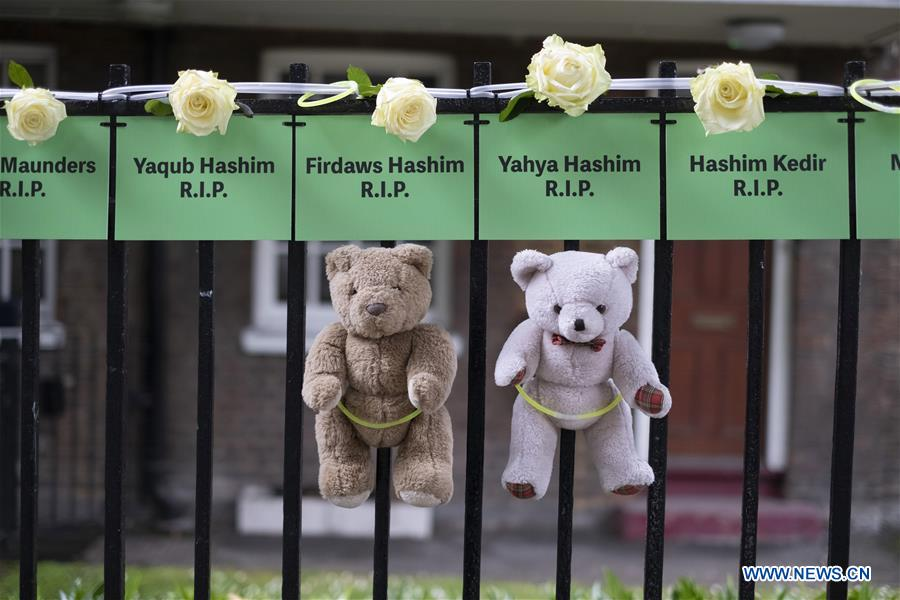 Commemoration held to mark 2nd anniversary of Grenfell Tower fire in London