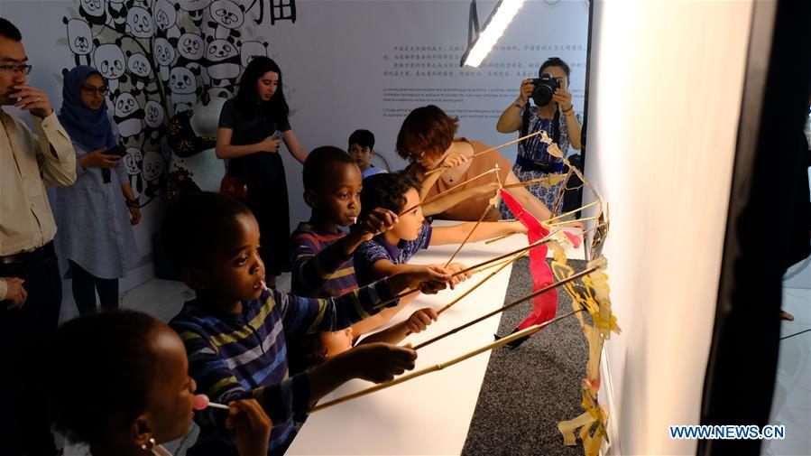 Chinese shadow puppet art exhibition kicks off in Rabat, Morocco
