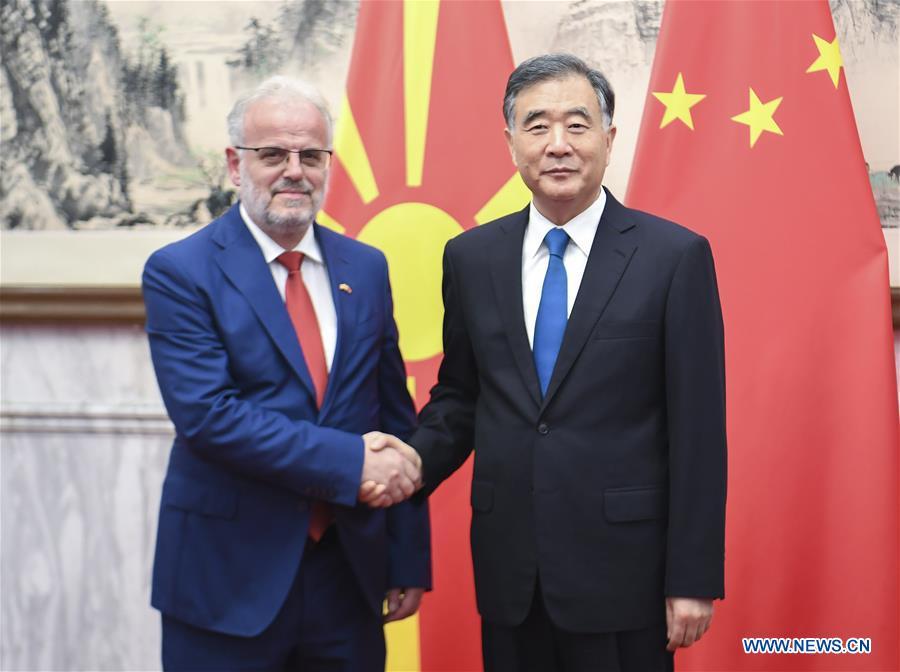 China's top political advisor meets North Macedonian parliament speaker