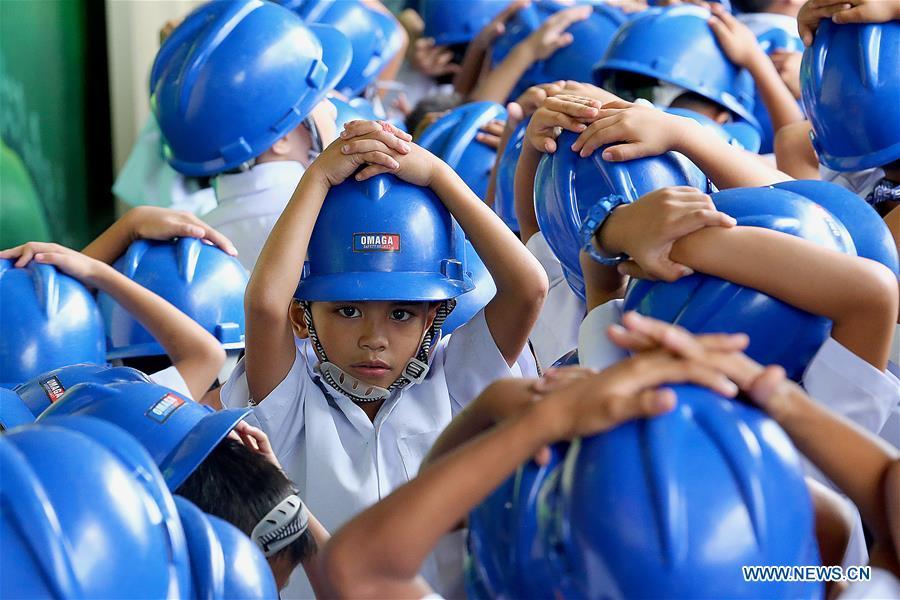 Filipino students participate in Nationwide Simultaneous Earthquake Drill