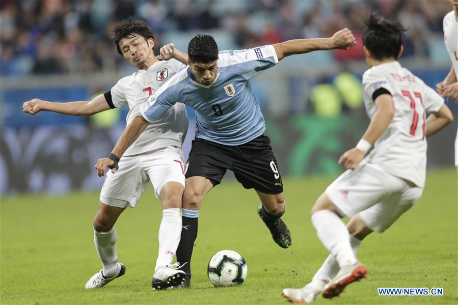 Uruguay fight back to draw with Japan at Copa America