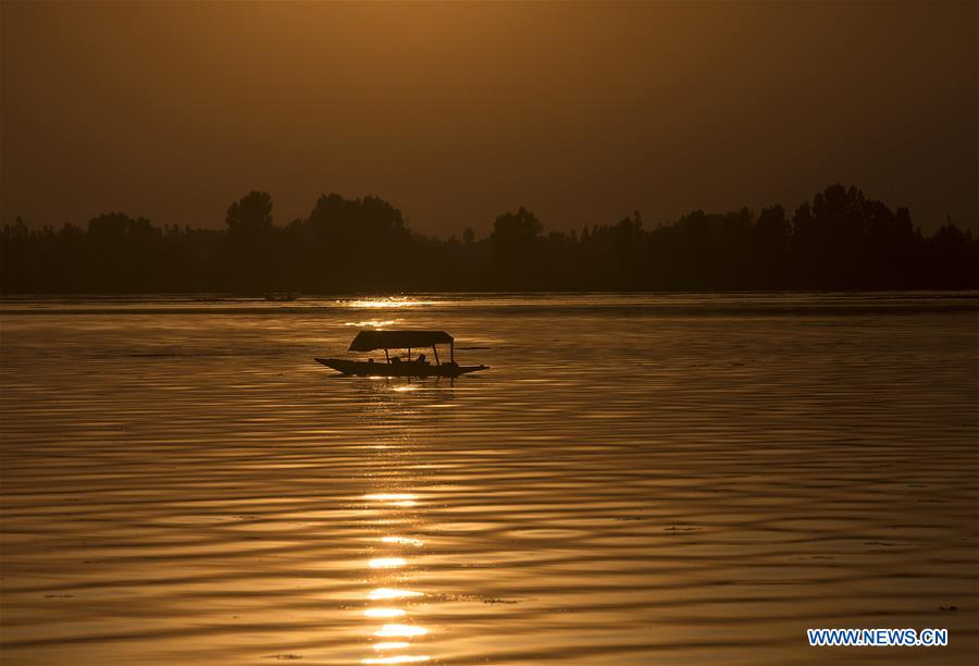 In pics: sunset at Dal Lake in Srinagar city, Indian-controlled Kashmir