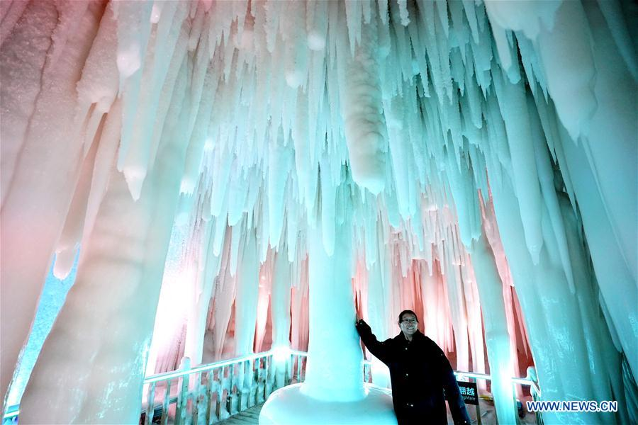 No.1 ice cave in Yunqiu Mountain, north China's Shanxi