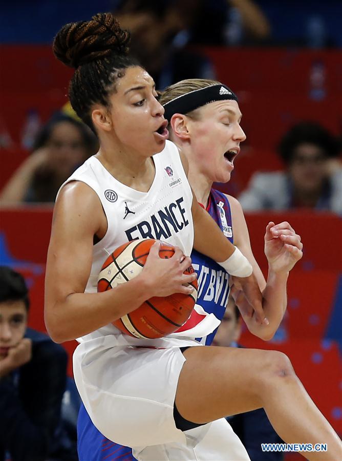 France beats Britain 63-56 during women's FIBA EuroBasket semifinal