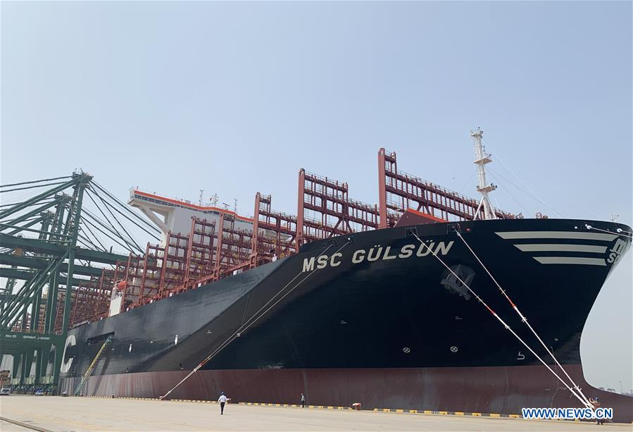 World's largest container ship sets sail