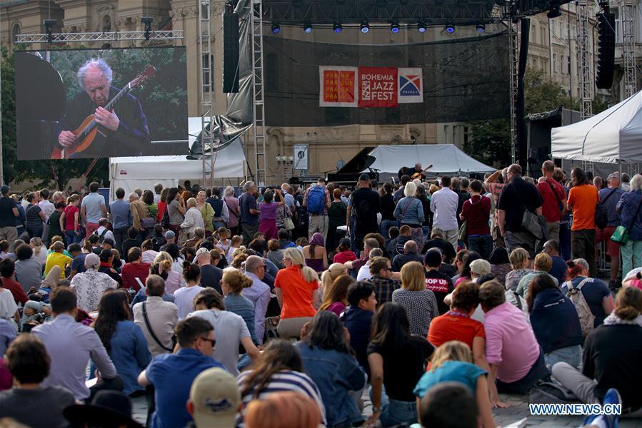 People enjoy jazz during Bohemia JazzFest 2019 in Czech Republic