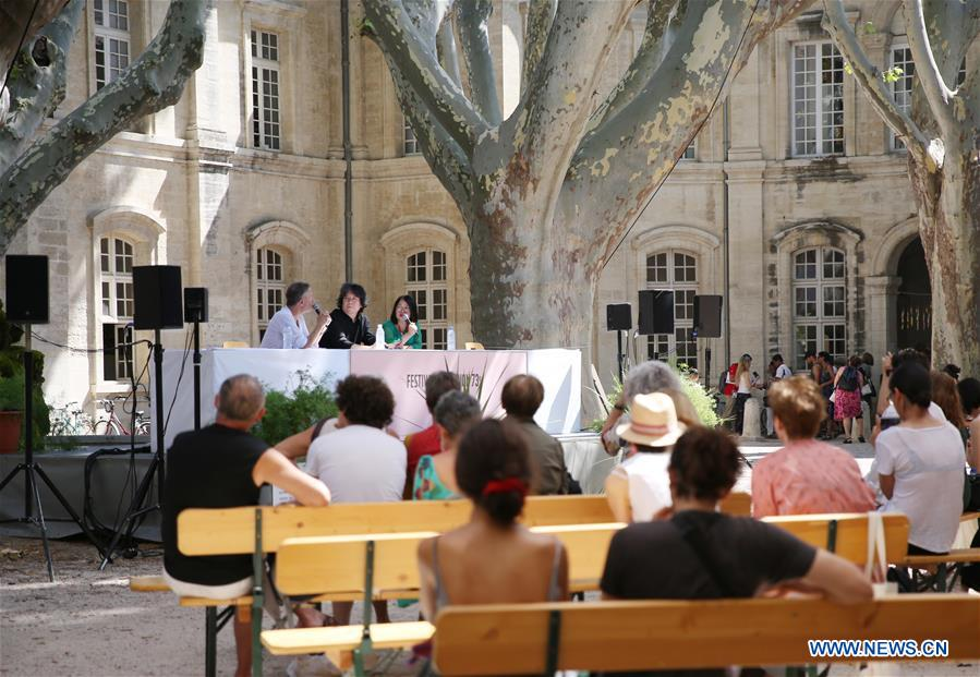 Meng Jinghui attends press conference during 73rd Festival d'Avignon