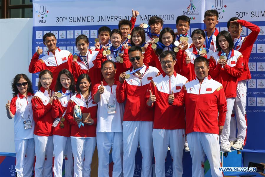 China wins men's and women's team classification gold medals at Universiade