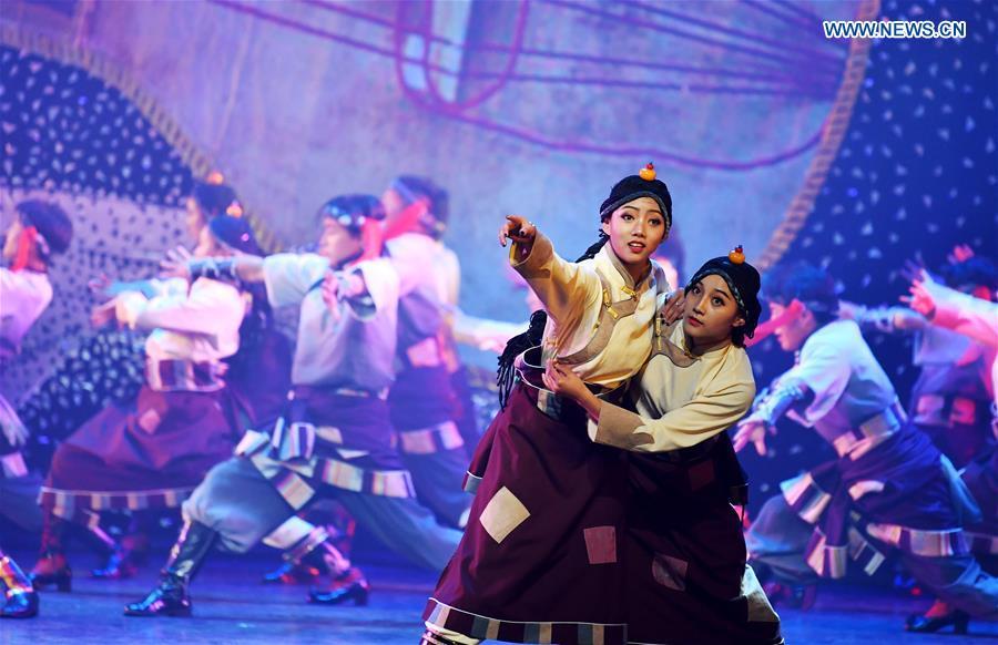 Dance drama featuring Guozhuang dance performed in NW China's Gansu