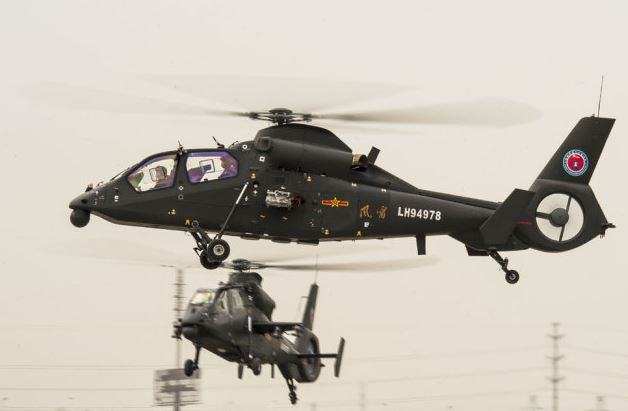China has more than 60 helicopter models