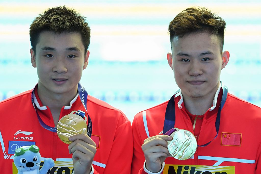 Chinese pair wins men's 3m synchro springboard at FINA World Championships