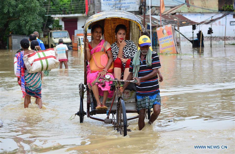 Flood hits Northeastern state of Tripura, India