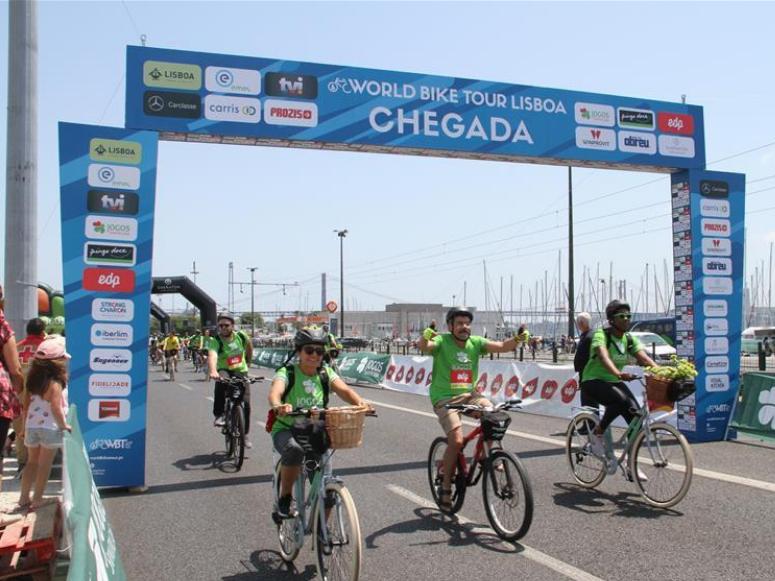 World Bike Tour held in Lisbon, Portugal