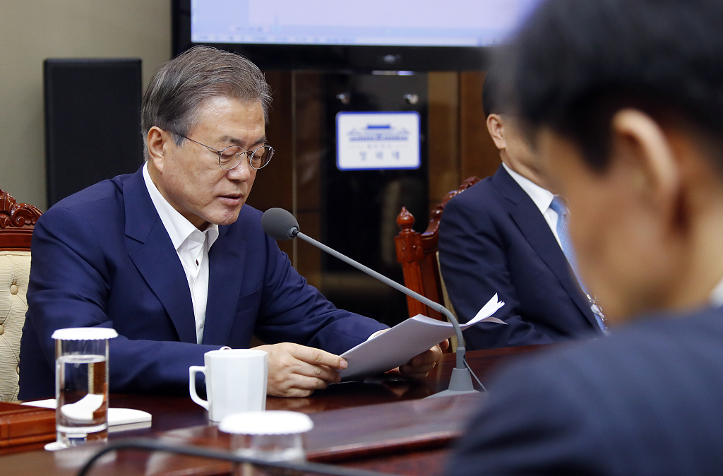 S. Korean president calls on Japan to return to diplomatic stage over trade row
