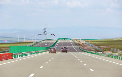 Mongolia's first Chinese-built highway opens to traffic
