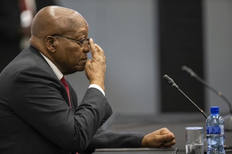 S.Africa's Zuma tells graft probe he's a victim of conspiracy