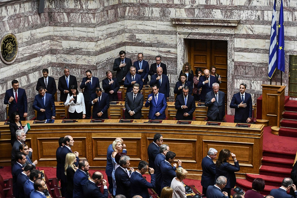 New conservative Greek parliament sworn in after election