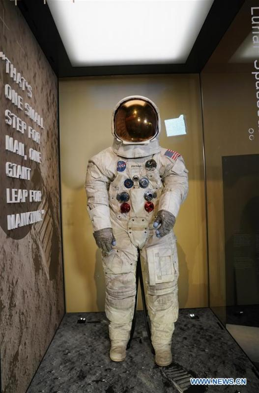 Armstrong's Apollo 11 spacesuit back on display