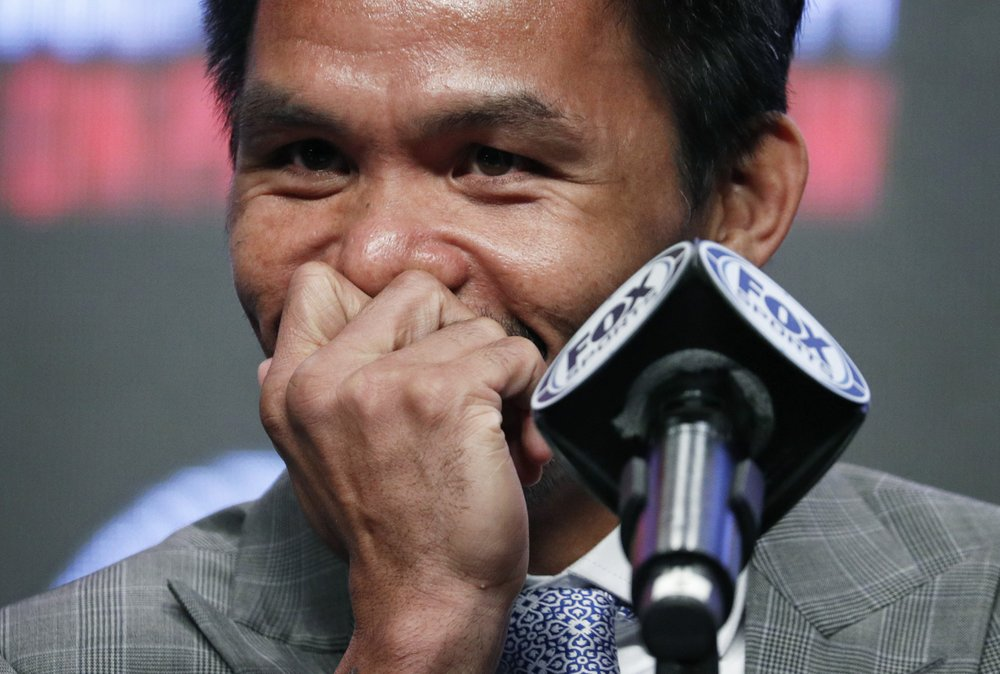 Pacquiao has plenty to say while he prepares for Thurman