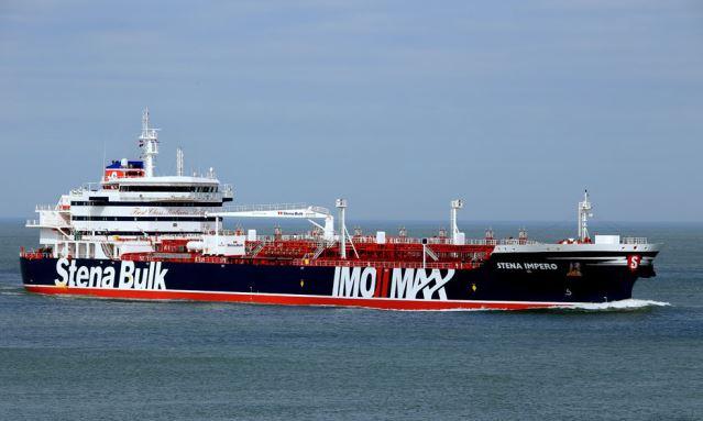 Iran says captured British tanker hits Iranian fishing boat