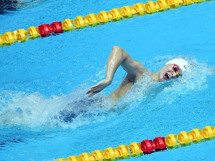 Sun Yang claims gold in 400m freestyle final at FINA worlds