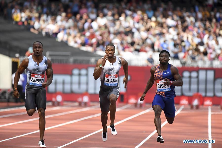 South Africa's Simbine wins men's 100m in London