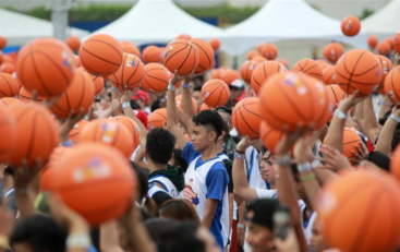 People try to break Guinness World Record in Pasay City, the Philippines