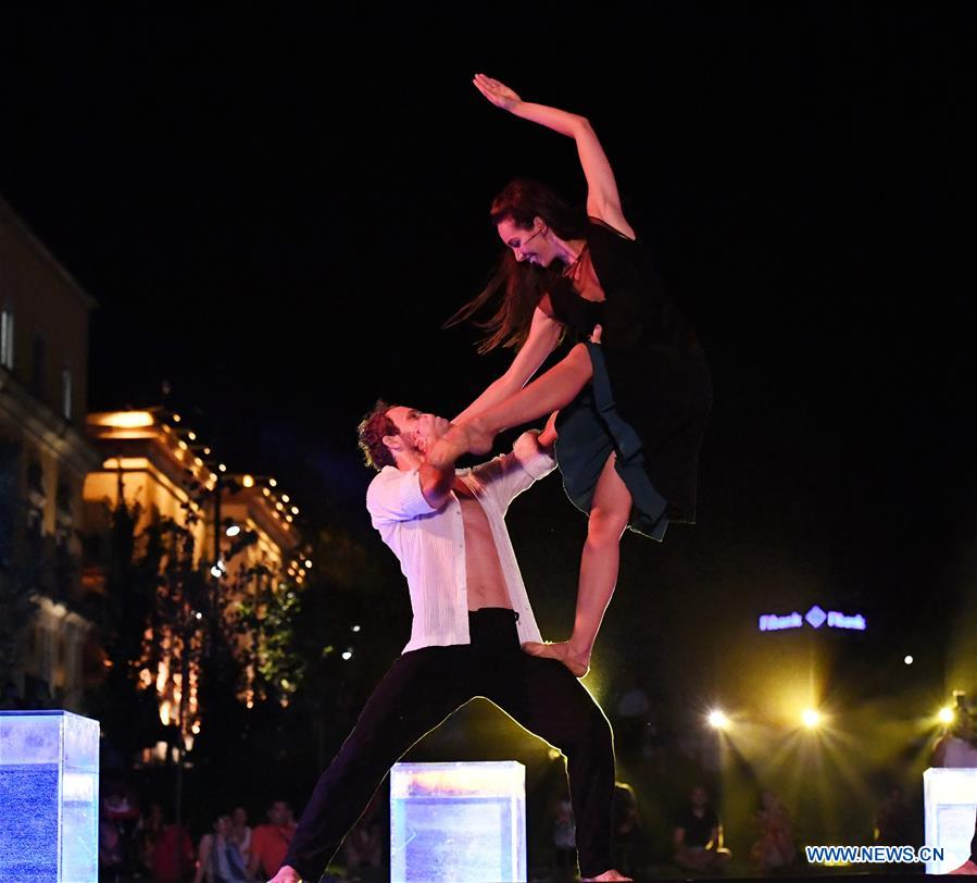 Artists perform Fado Ballet in Tirana, Albania