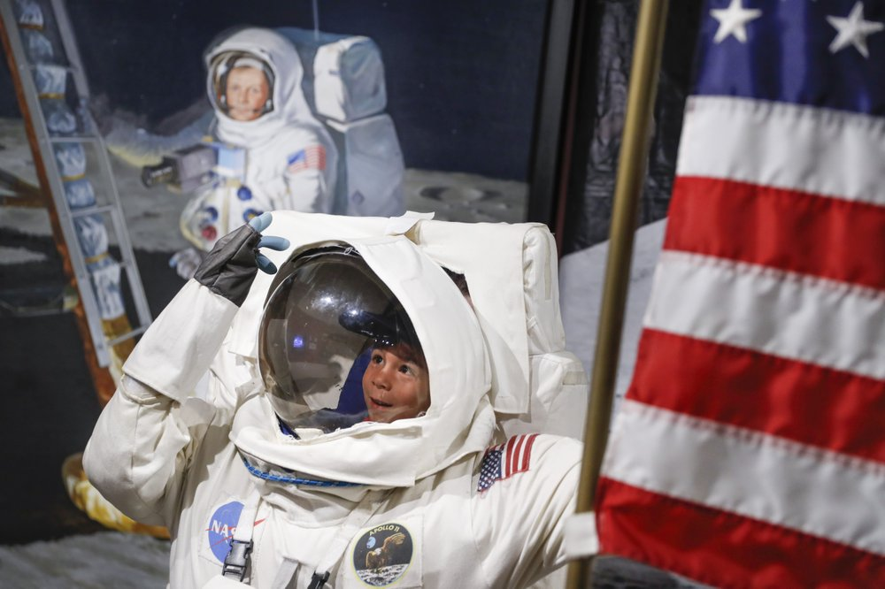 US celebrates 50th anniversary of 1st lunar footsteps
