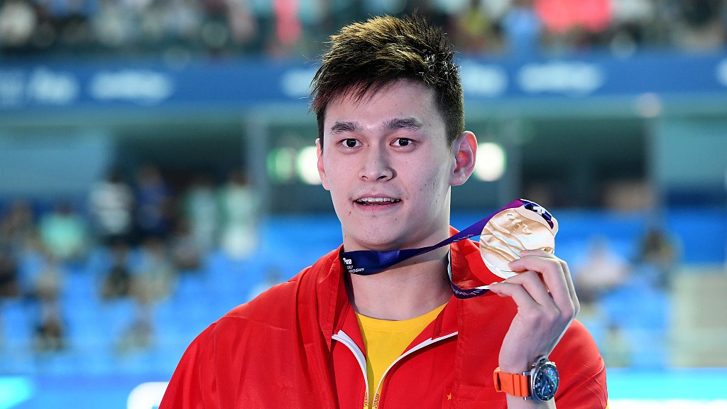 Sun Yang wins China's first swimming gold at FINA World Championships
