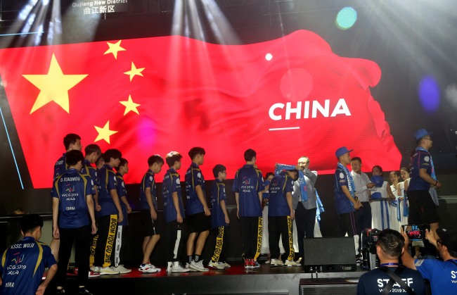 China claim four titles out of six at the 2019 World Cyber Games