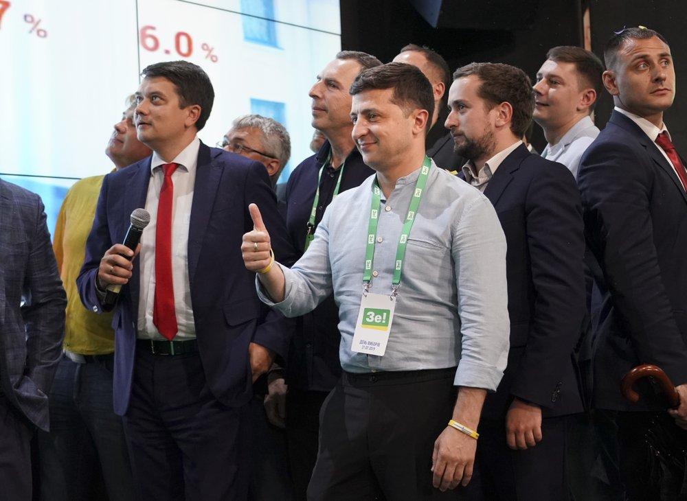 Ukrainian president's party set to triumph in parliament election
