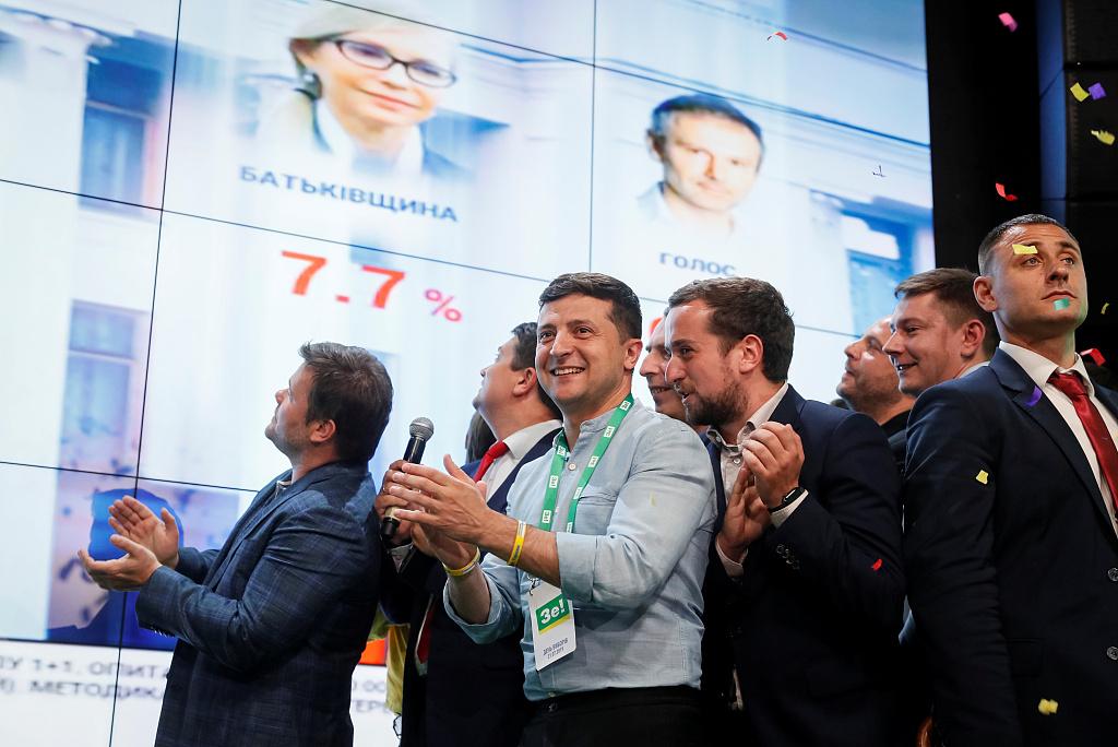 President's party set to triumph in Ukraine's parliament election
