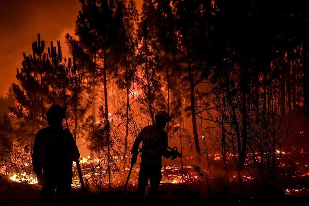 Portuguese firefighters hope to bring forest blazes under control